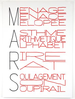 Delphine Coindet / Calendrier Anarchiste (Mars) / TCHIKEBE / 2013